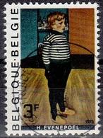 Belgique 1973 COB 1686 O Cote (2016) 0.25 Euro Henri Evenepoel Le Petit Charles Au Jersey Rayé Cachet Rond - Belgique