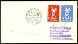 Belgie 1958 Eerste KLM Poolvlucht Amsterdam - Biak (Nieuw Guinea) VH A 514d - Luchtpost