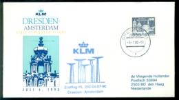 Deutschland 1990 Erstflug KLM Lieniendienst Dsesden - Amsterdam VH A 1123 - [7] République Fédérale
