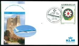 Azerbeidzjan 1996 Cover First Scheduled KLM Flight With Boeing 767-300 Baku - Amsterdam VH A 1174a - Azerbaidjan