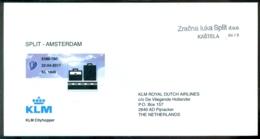 Croatia 2017 Cover First Flight KLM EMB-190 Split - Amstedam - Croazia