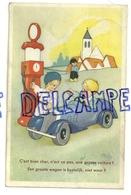 Voiture Et Petit Pompiste. 1945 - Illustrateurs & Photographes