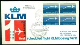 Nederland 1971 Eerste KLM Vlucht Met Boeing 747B Amsterdam - New York VH A 836a - Luftpost
