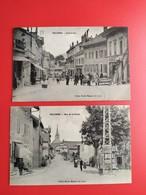 27 Cpa VALLORBE Rue De La Poste Et Grande Rue - VD Vaud