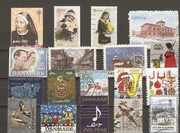 Danemark, Norvège, Suède - Erinnophilie - Petit Lot De 18 Vignettes Jul - Noël - Vignetten (Erinnophilie)
