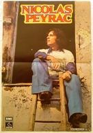 AFFICHE ORIGINALE CHANTEUR NICOLAS PEYRAC - PATHE EMI - Manifesti & Poster