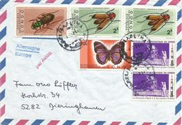 DRC RDC Congo 1971 Elisabetha Moon Landing Apollo XI Space Butterfly Beetle Philagathes Lætus Congoanus Cover - Democratische Republiek Congo (1964-71)