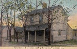 VINCENNES , Indiana , 00-10s ; Home In Which Indiana's First Legislature Met - United States