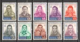 Indonesia 1966 Mi 548-557 MNH - Indonesië