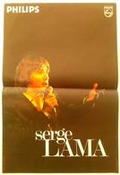 AFFICHE ORIGINALE CHANTEUR SERGE LAMA - PHILIPS - Manifesti & Poster