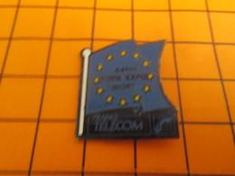 1019 Pin's Pins / Beau Et Rare / Thème FRANCE TELECOM / DRAPEAU EUROPE 54e FOIRE EXPO DE NIORT - Telecom De Francia