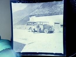 Négatif Photo Autocar Ancien  Grand Saint Bernard 1937 - Automobile