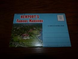 BC4-3-25-2 Souvenir Folder (12 Vues) Newport's Famous Mansions - NY - New York