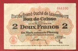 Luxembourg  2 Francs 28 Novembre 1914 - Lussemburgo