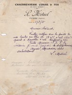 FURES L MOTUEL CHAUDRONNERIE CUIVRE FER ANNEE 1926 PLIS ET DECHIRRURES VOIR SCAN - Autres