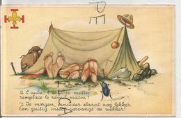 """3 Scouts Sous La Tente Et Hanneton Chatouille Les Pieds:"""" A L'aube, L'insecte Mutin ..."""" - Padvinderij"""