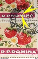 """Errors Romania 1963, Mi 2179, Pair ,fruits, Strawberries, With Extended Letter """"M"""" Circle Color On Letter - Variedades Y Curiosidades"""