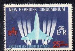 APR4462 - NUOVE EBRIDI 1968 , Yvert N. 276  Usato (2380A) .  Concorde - Gebruikt