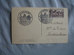 1951 C M  Cm Palais Fontainebleau Carte Maximum - Maximumkarten