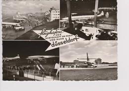 Vintage Rppc Lufthansa SAS PAA Aircraft @  Flughafen Dusseldorf Airport - 1919-1938: Entre Guerres