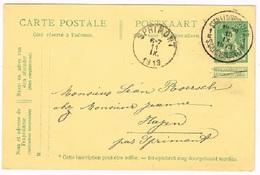 Belgique - 1912 - Entier Postal, Type Du N° 110 (Y&T), Ayant Circulé - 1912 Pellens