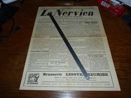 Le Nervien 1938 Velaine St-Martin Balâtre Onoz Mazy Moustier Ham Sur Sambre Jemeppe Brasserie Keumiée Lesoye - Non Classés