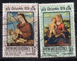 APR4475 - NUOVE EBRIDI 1970 , Yvert N. 302/303  Usato (2380A) . Natale - Gebruikt