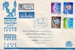 Postal History Cover: Tanganyika And Zanzibar Used Registered FDC - Tanzania (1964-...)