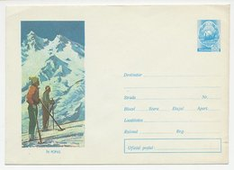 Postal Stationery Romania 1965 Ski - Skiing - Inverno