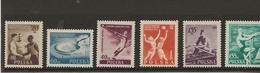 POLOGNE - N° 827 à 832 NEUF INFIME CHARNIERE -  ANNEE 1954 - 1944-.... République