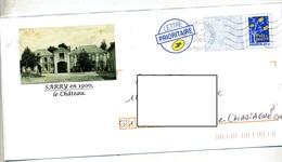 Pap Logo Bleu  Flamme Muette Chalons Entete Chateau Sarry - Prêts-à-poster:Overprinting/Blue Logo