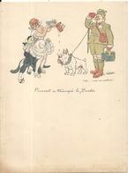 PAPIER A LETTRE ILLUSTRE . A.WILLETTE . PIERROT A TROMPE LE BOCHE - Documentos Antiguos