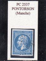 Manche - N° 14A Obl PC 2537 Pontorson - 1853-1860 Napoleon III