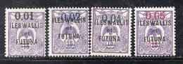 APR4469 - WALLIS ET FUTUNA 1922, Yvert N. 26/29  *  Gomma Difettosa (2380A) . - Wallis E Futuna