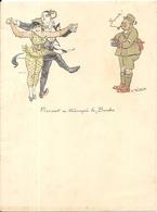 PAPIER A LETTRE ILLUSTRE . A.WILLETTE . PIERROT A TROMPE LE BOCHE - Vieux Papiers