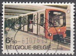 Belgique 1976 COB 1826 O Cote (2016) 0.25 Euro Bruxelles Rame De Métro Cachet Rond - Belgique