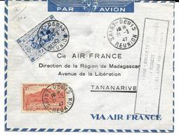 TANANARIVE MADAGASCAR 1ère Liaison Postale Régulière Avec La  REUNION - Africa (Other)
