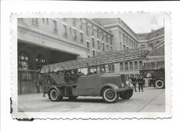PHOTO Scannée SAPEUR POMPIER  FÉCAMP 1947 / 1948  ( 5.5 X 8.5 ) - Fécamp