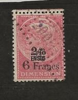 FISCAUX  FRANCE DIMENSIONS N°91 2/10 En Sus Sur 6 Francs Rose Oblitéré - Revenue Stamps