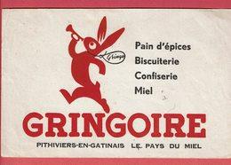 """Buvard """" GRINGOIRE """" Pain D'épices, Biscuiterie, Confiserie, ...;etc.... Pithiviers - Gingerbread"""