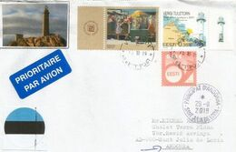 ESTONIA. Vergi Lighthouse In Estonia.Baltic Sea, On Letter Sent To Andorra, With Arrival Postmark - Lighthouses