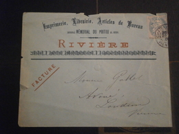 FRANCE BLANC LETTRE ENVELOPPE ILLUSTREE ILLUSTRATION IMPRIMERIE LIBRAIRIE JOURNAL MEMORIAL POITOU CHATELLERAULT VIENNE - Postmark Collection (Covers)