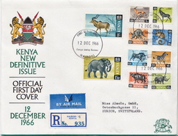Postal History Cover: Kenya Cover With 10 Stamps - Sin Clasificación