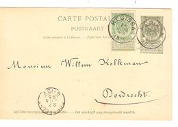 REF74/ Entier CP 23 C.Regissa 26/Juin/8-S/1895 > Dordrecht C.d'arrivée - Entiers Postaux