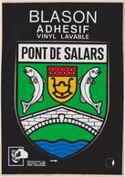 CP BLASON ECUSSON AUTOCOLLANT ADHESIF PONT DE SALARS - France