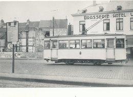 OOSTENDE  TRAM TRAMWAY  GARE MARITIME 14 X 9 CM  FOTO - Oostende