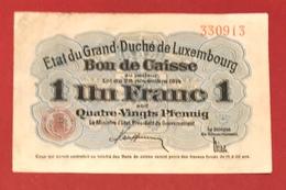 Luxembourg 1 Franc 28 Novembre 1914 - Lussemburgo