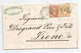 - BFE TURQUIE D'ASIE - SALONIQUE GC 5095 S/N°21+23 - Càd Perlé + PD Noir - 1866 - Francia (vecchie Colonie E Protettorati)