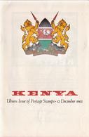 Kenya Leaflet With The First Definitive Stamps Descriptions. - Kenya (1963-...)