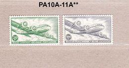 1954 PA10A-11A** Zonder Scharnier.DC4,Skymaster.(T11 3/4 X 11 1/2).OBP 400 Euro. - Poste Aérienne